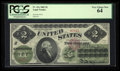 Large Size:Legal Tender Notes, Fr. 41a $2 1862 Legal Tender PCGS Very Choice New 64.. ...