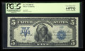 Large Size:Silver Certificates, Low Serial Number H4 Carmi A. Thompson Courtesy Autograph Fr. 276 $5 1899 Silver Certificate PCGS Very Choice New 64PPQ.. ...
