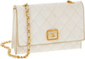 Luxury Accessories:Bags, Chanel White Lizard Small Single Flap Bag with Gold Hardware. ...