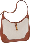 Luxury Accessories:Bags, Hermes 31cm Toile & Barenia Leather Trim Bag with GoldHardware. ...