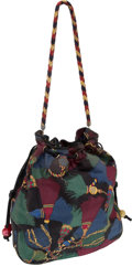 Luxury Accessories:Bags, Bottega Veneta Multicolor Cotton Canvas Drawstring Vintage Bag. ...