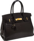 Luxury Accessories:Bags, Hermes 30cm Matte Black Nilo Crocodile Birkin Bag with GoldHardware. ...