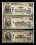 National Bank Notes:Virginia, Lynchburg, VA - $20 1902 Plain Back Fr. 651 The Lynchburg NB Ch. #1522, Three Examples.. ... (Total: 3 notes)