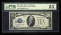 Small Size:Silver Certificates, Fr. 1700 $10 1933 Silver Certificate. PMG About Uncirculated 53.....
