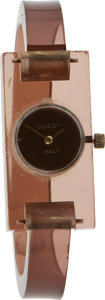 Luxury Accessories:Accessories, Gucci Early Lucite Watch. ...