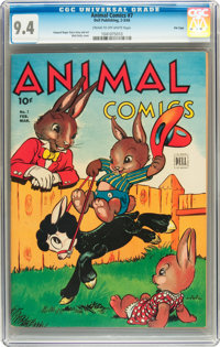 Animal Comics #7 File Copy (Dell, 1944) CGC NM 9.4 Cream to off-white pages