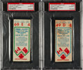 Hockey Collectibles:Others, 1972 Summit Series Canada vs. U.S.S.R. Game 2 Ticket Stubs Lot of 2, PSA Authentic....