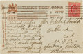 Autographs:Post Cards, 1907 Tommy Burns Handwritten Signed Postcard....