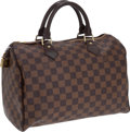 Luxury Accessories:Bags, Louis Vuitton Speedy 30 Damier Ebene Canvas. ... (Total: 2 Items)