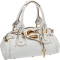 Luxury Accessories:Bags, Chloe White Leather Paddington Bag with Gold Hardware. ... (Total:2 Items)