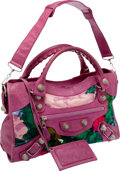 Luxury Accessories:Bags, Balenciaga Floral Fabric City Bag. ... (Total: 2 Items)