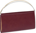 Luxury Accessories:Bags, Cartier Trinity Maroon Leather Lea Clutch Bag. ...
