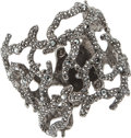 Luxury Accessories:Accessories, Kenneth Jay Lane Intricate Black Crystal Coral Bracelet. ...