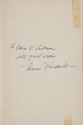 Books:Signed Editions, Eleanor Roosevelt Inscribed First Edition of This I Remember. ...