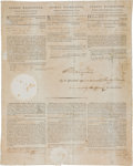 Autographs:U.S. Presidents, George Washington Three Language Ship's Papers Signed....