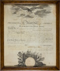 "Autographs:U.S. Presidents, [War of 1812]. James Madison Marine Corps Appointment Signed ""James Madison""...."