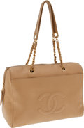 Luxury Accessories:Bags, Chanel Beige Caviar Leather Large Tote. ...