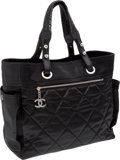 Luxury Accessories:Bags, Chanel Black Canvas Paris-Biaritz Shopping Bag. ...