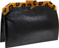 Luxury Accessories:Bags, Yves St Laurent Black Snakeskin and Leopard Lucite Clutch. ...