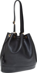 Luxury Accessories:Bags, Heritage Vintage: Hermes Black Ardennes Leather Market Tote. ...