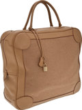 Luxury Accessories:Bags, Hermes 40cm Cashmere & Parchment Clemence Leather OmnibusTravel Bag . ...