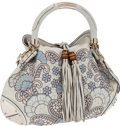 Luxury Accessories:Bags, Gucci White Python & Embroidered Indy Bag. ...
