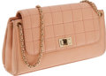 Luxury Accessories:Bags, Chanel Peach Lambskin Mademoiselle Accordion Flap Bag with GoldHardware and Classic Chain Strap. ...