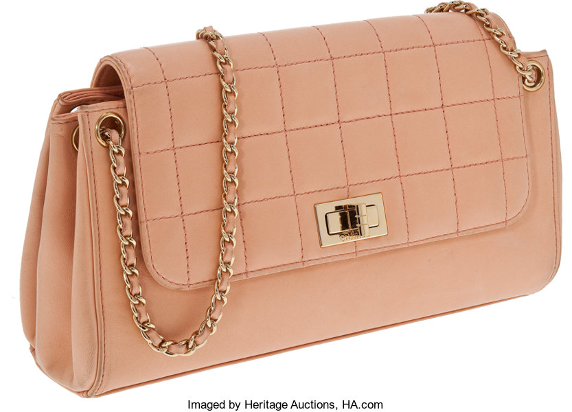 cfed076bcbbc ... Luxury Accessories:Bags, Chanel Peach Lambskin Mademoiselle Accordion  Flap Bag with GoldHardware and Classic ...