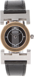 Luxury Accessories:Accessories, Hermes H Watch Flexible Lugs Watch. ...