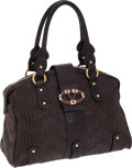 Luxury Accessories:Bags, Heritage Vintage: Valentino Large Classic Woven Leather & TweedBag. ...