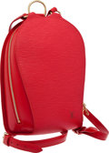 Luxury Accessories:Bags, Louis Vuitton Red Epi Leather Mabillon Backpack. ...