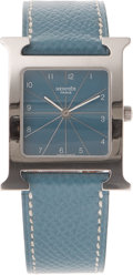 Luxury Accessories:Accessories, Hermes Blue Jean H-Hour Watch. ...
