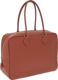 Luxury Accessories:Bags, Hermes 32cm Brick Togo Leather Plume Bag with Palladium Hardware.... (Total: 2 Items)