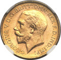 Australia, Australia: George V gold 1/2 Sovereign 1918P,...