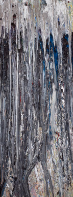 LARRY POONS (American, b. 1937) Santorini, 1979 Acrylic on canvas 77-3/4 x 28-1/4 inches (197.5 x