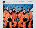 Autographs:Celebrities, Space Shuttle Columbia (STS-107) Crew-Signed Color Photo....