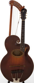 Musical Instruments:Acoustic Guitars, 1917 Gibson Style V Sunburst Archtop Acoustic Harp Guitar, Serial # 39406....