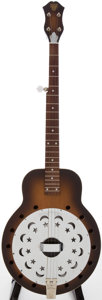 Musical Instruments:Resonator Guitars, 1980s Dobro Sunburst 5-String Tenor Resonator Banjo, Serial #K210893D ...