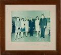 Autographs:U.S. Presidents, [Gordon Cooper] John F. Kennedy: Large Color Photo Signed on Mat to Mrs. Gordon Cooper from the Family's Collection. ... (Total: 3 Items)