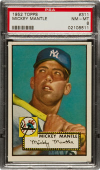 1952 Topps Mickey Mantle #311 PSA NM-MT 8 - From the Rosen Find!