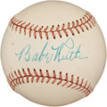 Autographs:Baseballs, 1948 Babe Ruth Single Signed Baseball, PSA/DNA NM-MT 8....