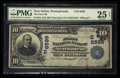 National Bank Notes:Pennsylvania, New Salem, PA - $10 1902 Plain Back Fr. 624 The First NB Ch. #(E)6599. ...