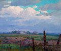 Texas:Early Texas Art - Regionalists, CHARLES TAYLOR BOWLING (American, 1891-1985). EveningClouds, circa 1930. Oil on canvas. 20 x 24 inches (50.8x 61.0...