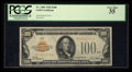 Small Size:Gold Certificates, Fancy Serial Number A01541154A Fr. 2405 $100 1928 Gold Certificate. PCGS Very Fine 35.. ...