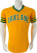 Baseball Collectibles:Uniforms, 1981 Billy Martin Game Worn Oakland Athletics Jersey....