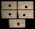 Colonial Notes:Connecticut, Connecticut Comptroller's Office Notes. Five Examples. Very Fine toAbout Uncirculated.. ... (Total: 5 notes)