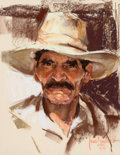 Works on Paper, HARLEY BROWN (American, b. 1939). Portrait of a Man, 1985. Pastel on paper. 12 x 9-1/2 inches (30.5 x 24.1 cm). Signed a...