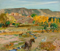 Paintings, FROM THE PRIVATE COLLECTION OF A TEXAS FAMILY. RANDALL DAVEY (American, 1887-1964). Landscape (New Mexico. Oil on arti...