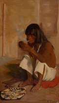 Paintings, KATE THOMPSON CORY (American, 1861-1958). Hopi Priest. Oil on canvas. 19-1/2 x 12 inches (49.5 x 30.5 cm). Signed lower ...