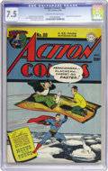 Golden Age (1938-1955):Superhero, Action Comics #88 (DC, 1945) CGC VF- 7.5 Cream to off-white pages. John Sikela, probably better known for his work on Superb...